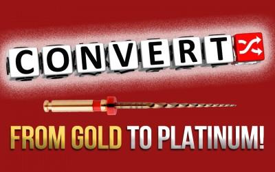 Converting from ProTaper® Gold to EdgeTaper Platinum